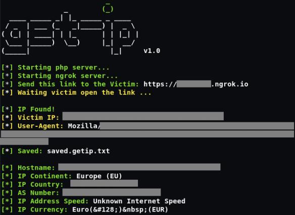 Get ip of target through nkrog link On Kali Linux 2018 4